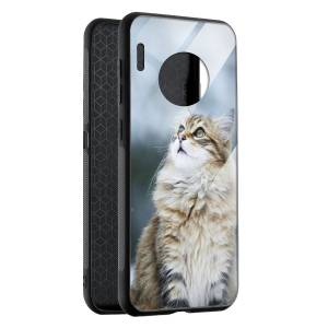 Husa BitCase Fluffy Snow Cat Huawei Mate 30 Pro