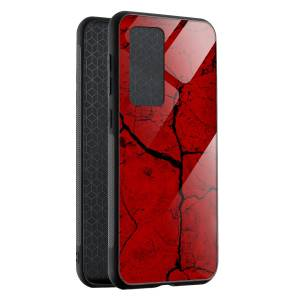 Husa BitCase Red Cracks Huawei P40 Pro