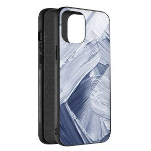 Husa BitCase Brush Effect pentru iPhone 12 Mini