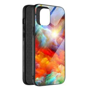 Husa BitCase Colourful Sky pentru iPhone 12 Mini
