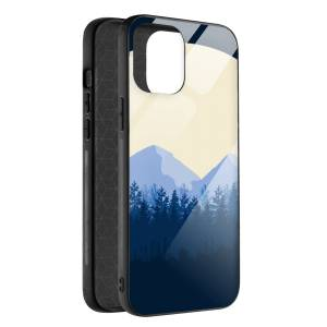 Husa BitCase Minimalist Mountain pentru iPhone 12 Mini
