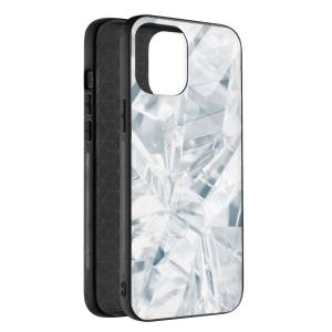 Husa BitCase White Crystal pentru iPhone 12 Mini