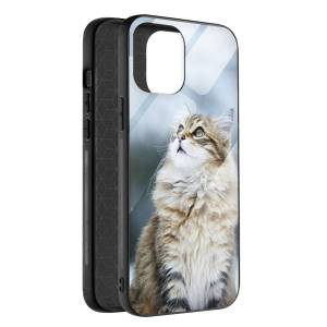 Husa BitCase Fluffy Snow Cat pentru iPhone 12 Pro Max