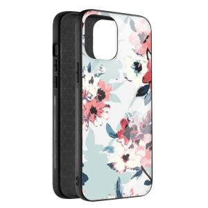 Husa BitCase Watercolor Flowers pentru iPhone 12 Pro