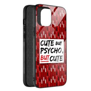 Husa BitCase Cute But Psycho pentru iPhone 12