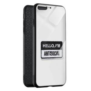 Husa BitCase Antisocial Badge pentru iPhone 7 Plus
