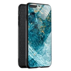 Husa BitCase Aquamarine & Gold Marble pentru iPhone 7 Plus