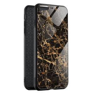 Husa BitCase Cracked Gold Marble pentru iPhone 7 Plus