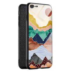 Husa BitCase Colorful Mountain pentru iPhone 8