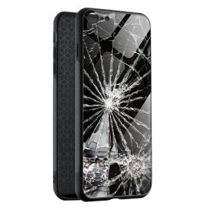 Husa BitCase Cracked  Glass pentru iPhone SE (2020)