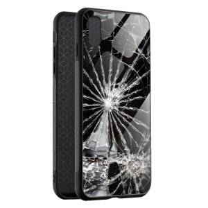 Husa BitCase Cracked  Glass pentru iPhone X