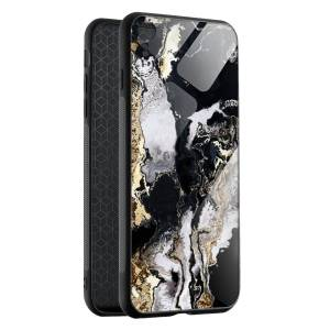 Husa Black & Gold Marble iPhone XR