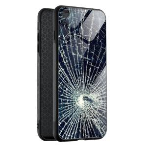 Husa Cracked Glass Effect iPhone XR