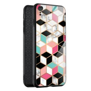 Husa Hex Pastel Marble iPhone XR