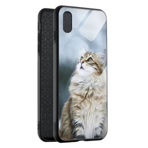 Husa BitCase Fluffy Snow Cat pentru iPhone XS