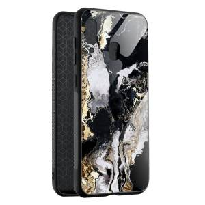 Husa Black & Gold Marble Samsung A40