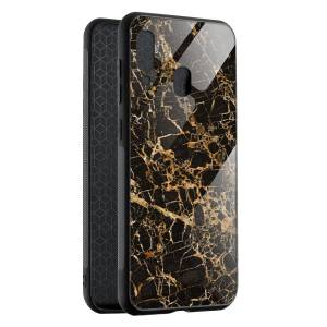 Husa BitCase Cracked Gold Marble Samsung A40