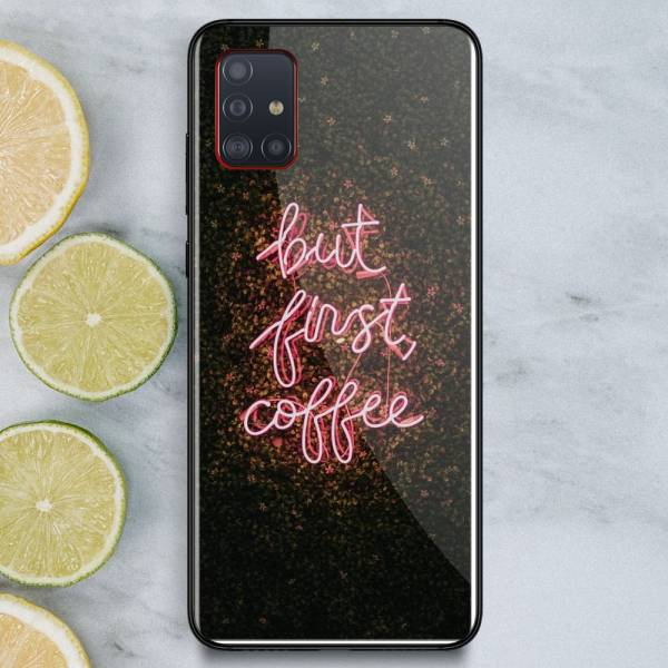Husa BitCase But First Coffee pentru Samsung A51