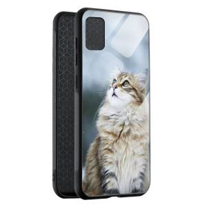Husa BitCase Fluffy Snow Cat Samsung A51