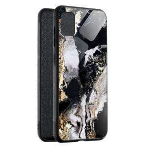 Husa Black & Gold Marble Samsung A71