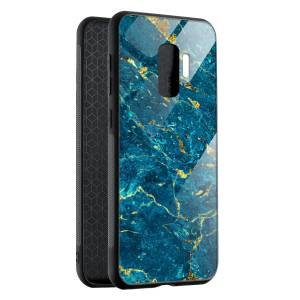 Husa Blue & Gold Marble Samsung S9